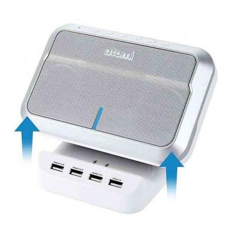 Loa Bluetooth Atomi - kết nối không dây bluetooth, có 4 cổng sạc USB cho smartphone, tablet