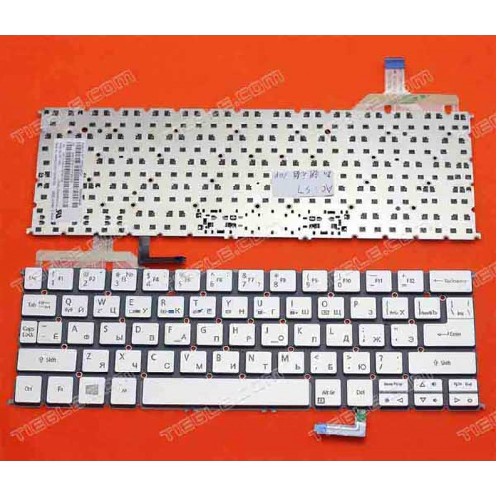 Bàn phím Acer ultrabook Aspire S7-391 S7-392 màu xám bạc + có đèn keyboard