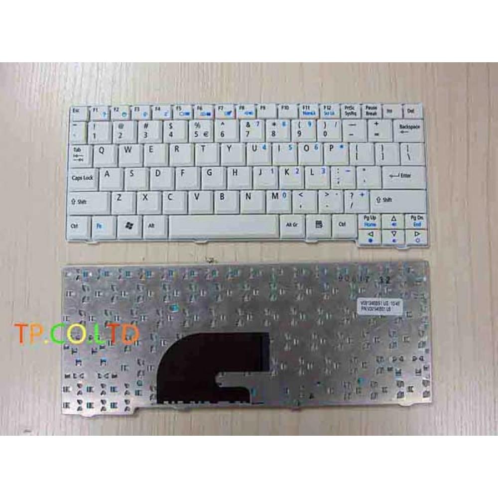 Bàn phím Aspire One A110 A150 D150 D250 kav60 Màu Trắng keyboard