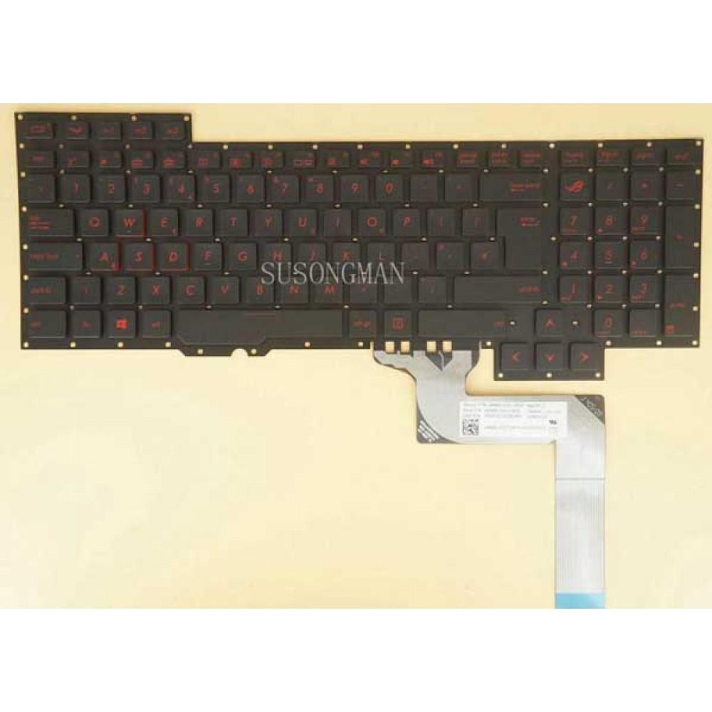 Bàn phím Asus ROG G751 (màu đen) ENTER LỚN keyboard