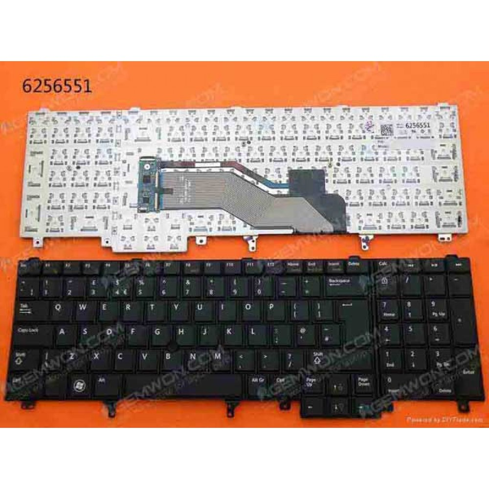 Bàn phím Dell LATITUDE E6520 E5520 E5530 M4600 M4700 M6700 TỐT keyboard