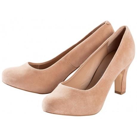 Giày ESMARA Leder-Pumps màu nâu - da dê cao cấp, đế da có đệm